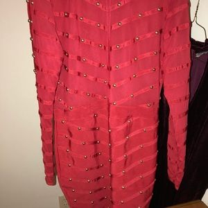Plus Red Studded Bandage Dress - Worn Once